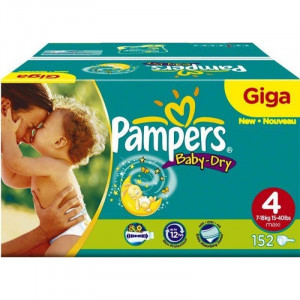 Couches Pampers Baby Dry 600 pièces T4
