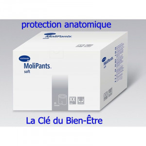 Protection anatomique slip de fixation Molipants soft Hartmann Taille L