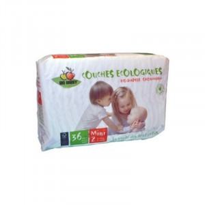 Couches jetables Bio Babby mini 3/6 kg sachet de 36