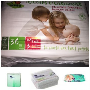Pack couches bébé écologiques 4/9 kg