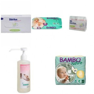 Pack Couche Bambo nature 5-9kg 33 pièces