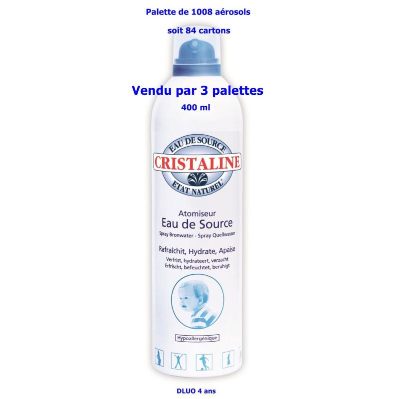 Lot de 3 palettes Cristaline atomiseur d'eau de source 400 ml