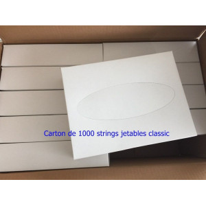 Lot de 1000 strings jetables classic