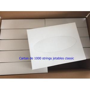Lot de 1000 strings jetables classic