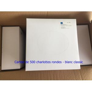 Lot de 500 charlottes rondes blanc