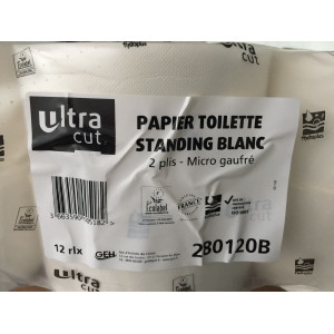Papier toilette standing blanc mini jumbo