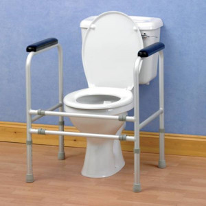 Cadre de toilette en aluminium